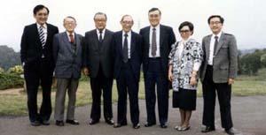創辦人徐有庠先生與蔣彥士、李國鼎先生 等人的照片