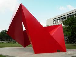 校園雕塑「無限延伸」側面照